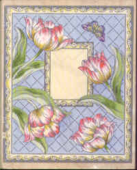 Tulips on Diamond Background
