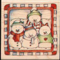 Hampton Arts - Snowman Family