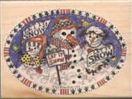 Hampton Art Stamps Let It Snow