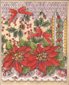 Stamps Happen - Poinsettia Lace Collage