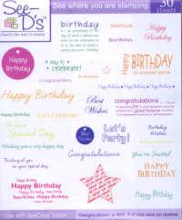 See D's Stamp Sets