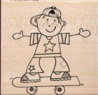 Stampendous - Skateboard Dude