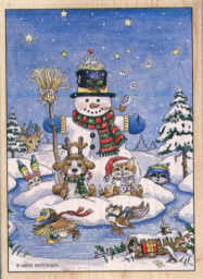 Stamps Happen - Snowman and Friends