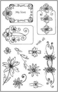 Woodware Clear Magic - Daisy Tag Set