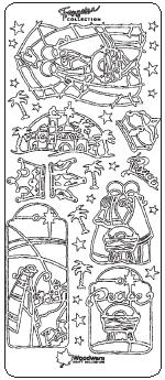 Nativity Collection Francoise Peel Off Stickers