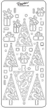 Christmas Trees and Gifts Peel Off Stickers