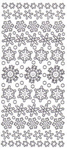 Snowflakes Holographic Peel Off Stickers