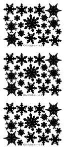 Snowflakes Rainbow Holographic Peel Off Stickers