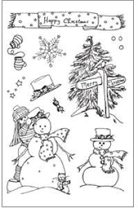 Woodware Clear Magic - Fun Snowmen