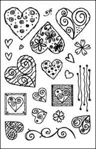 Woodware Clear Magic - Modern Hearts Set