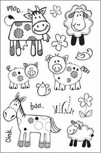 Woodware Clear Magic - Farmyard Animals