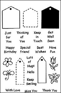 Woodware Clear Magic - Tiny Greetings and Tags