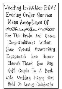 Woodware Clear Magic - Wedding Words