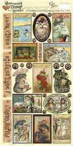 Heartwarming Vintage Stickers - Cat Crazy