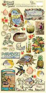 Heartwarming Vintage Stickers - Seaside Memories