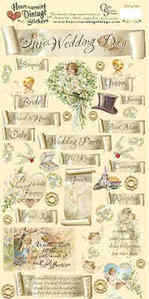 Heartwarming Vintage Stickers - Wedding Bells