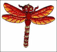 Iron on Motif - Dragonfly - Copper
