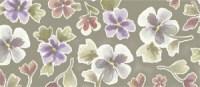Deja Views - Sharon Ann - Green Garden - Large Floral on Green