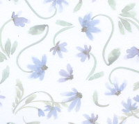 Deja Views - Sharon Ann Collection - Small Blue Floral on White