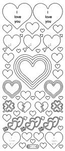 Peel Off Stickers - Hearts
