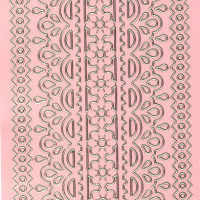 Lace Border 1 Pink Peel Off Stickers -