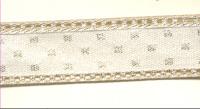 Decorative Ribbon - Metallic Patterned Edge
