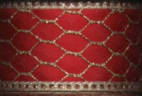 Decorative Ribbon - Red with Gold Mesh