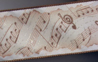 Decorative Ribbon - Satin Music Scroll