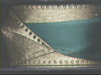 Double Faced Ribbon - Gold/Green