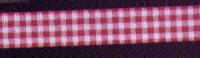 Offray Ribbon - Mini Check - Burgundy
