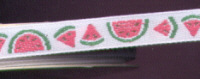 Offray Ribbon - Miniature Watermelon - White