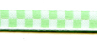 Offray Ribbon - Waffle - 7mm - Green/White