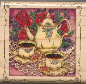 Inkadinkado Rubber Stamp -Tea Time