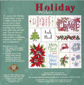 PSX - Holiday Wishes -10 Rubber Stamp Set