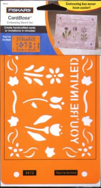 Fiskars Card Boss Stencil Set - You're Invited.