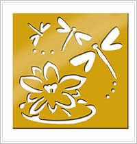 All Night Media Brass Embossing Stencil - Dragonflies in Flight