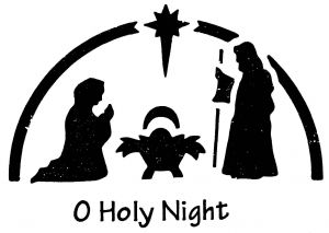 Heritage Handcrafts O Holy Night Brass Embossing Stencil