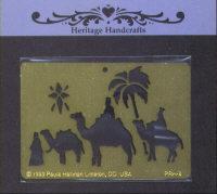 Heritage Handcrafts Three Wise Men Brass Embossing Stencil
