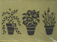 Heritage Handcrafts - Three Potted Flowers