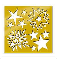 All Night Media Brass Embossing Stencil - Stars
