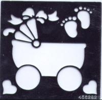 Embossing Stencil - Pram