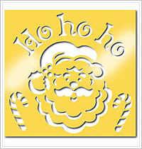 All Night Media Brass Embossing Stencil - Ho Ho Ho
