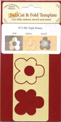 American Traditional Cut & Fold Template - Triple Flower