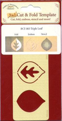 American Traditional Cut & Fold Template - Triple Leaf