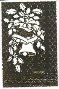 Brass Pricking and Embossing Stencil - Christmas Bells