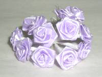 Satin Ribbon Roses - Lilac