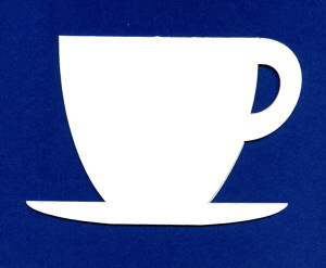 Cup and Saucer Shaped Card Blanks