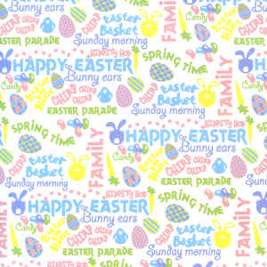Die Cuts with a View Patterned Paper - Easter Words