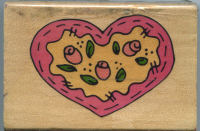 Westwater Floral Heart Rubber Stamp