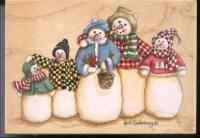 Stamps Happen - Snowman Family